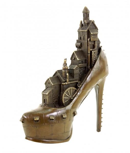 Limited Steampunk Bronze Figurine - High Heel - Gothic - Martin Klein