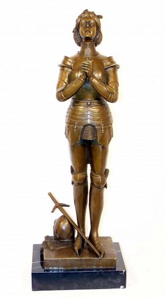 Art Deco Bronze - Jeanne d'Arc brave warrior - M. Mercié signed
