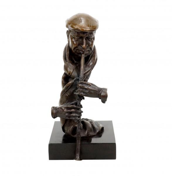 Clarinet Player - Contemporary Bronze Sculpture - Signed Martin Klein