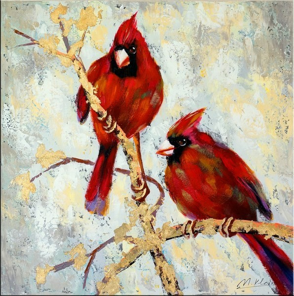 The Bird Wedding - Oil Painting on Canvas - Martin Klein