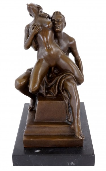 A Couple's Love Play - Bronze Erotic Nude - sign. M.Nick