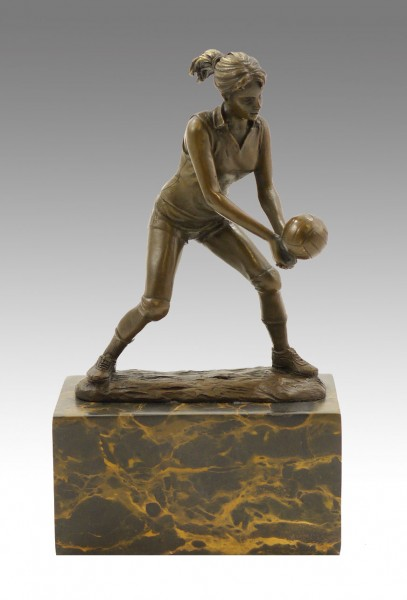 Bronze Cup - Female Volleyball Player - signed Milo