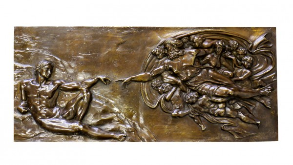 Mytholgy Relief - The Creation of Adam - sign. Michelangelo