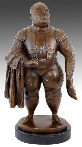Contemporary Art Bronze Statue - Botero Torero - Bull Fighter