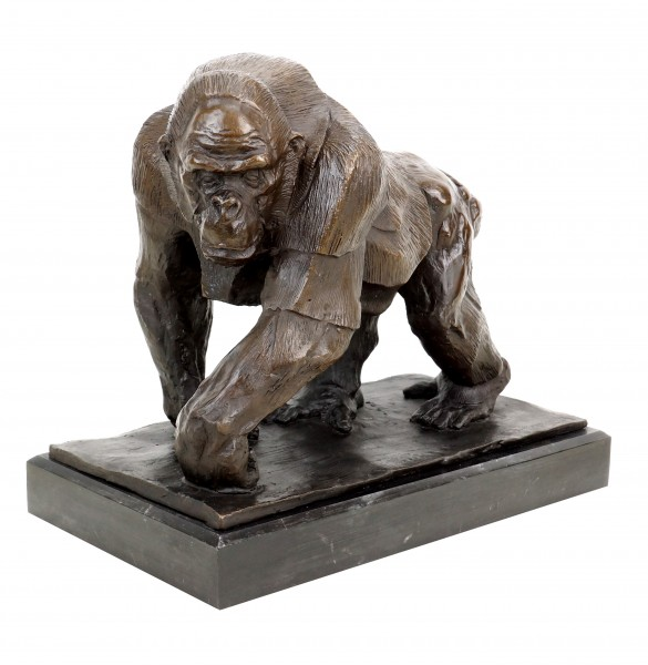 Limited Bronze Sculpture - Gorilla - Signed Bugatti - Animal Figurine