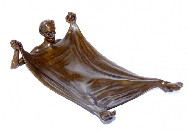 Satyr - Faun - Devil - bronze dish Vienna Bronze signed