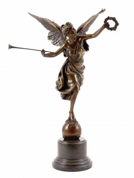 Bronze statue - La Renomee - Louis-Ernest Barrias - signed