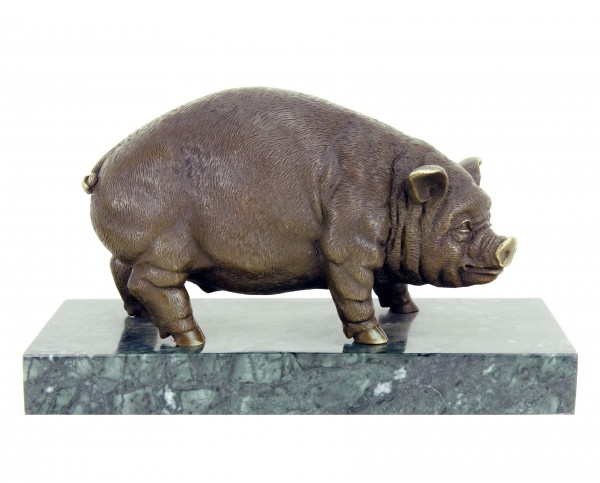 Bronze Pig / Domestic Pig - Bronze Statue - Sculpture by Bugatti