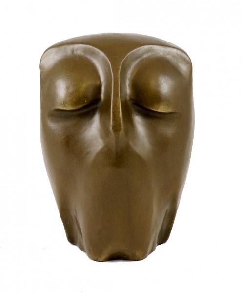 Modern Art Sculpture - Resting Owl - Bronze, signed Milo