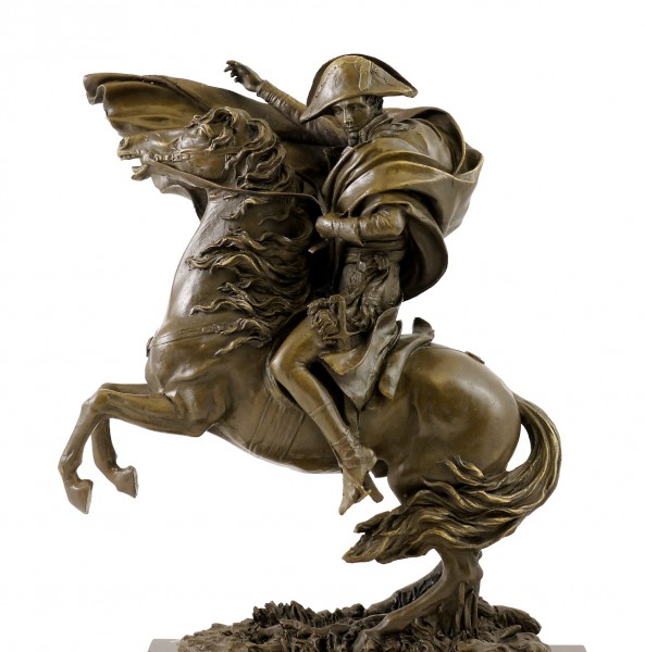 Bronze Figure - Napoleon on Horseback - signed Claude