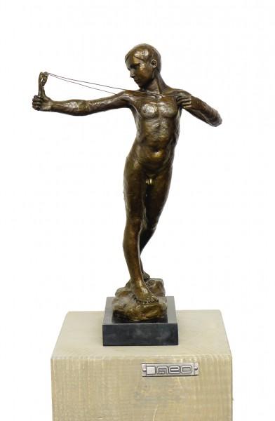 Art Nouveau Bronze Catapult, sign. W. R. Dick