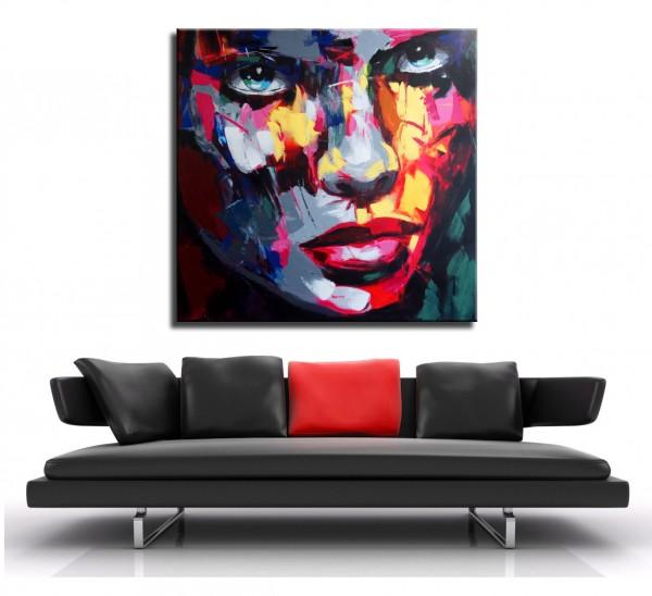 Modern Art Acrylic Painting - Le visage de femme - Martin Klein