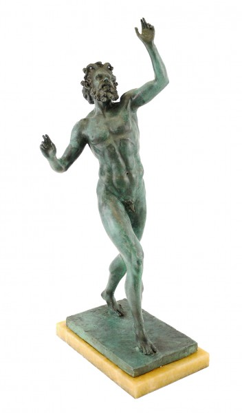 Antique Bronze Figure - Fauno Danzante/Dancing Faun of Pompeii