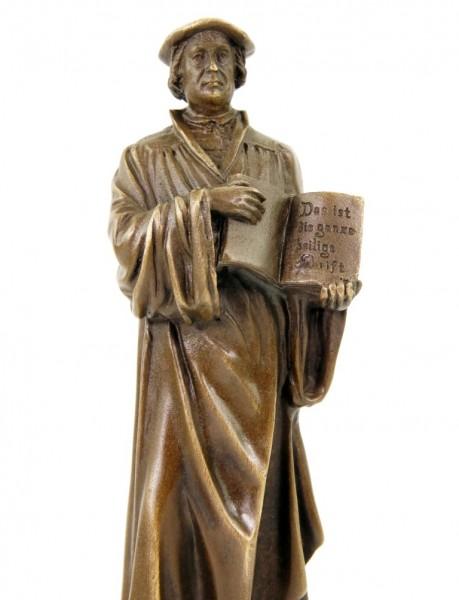 Martin Luther Statue - Vintage Bronze Figurine - Signed Milo