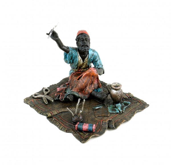Arabian Tailor - Vienna Bronze - Carpet Bronze - Arab Figurine