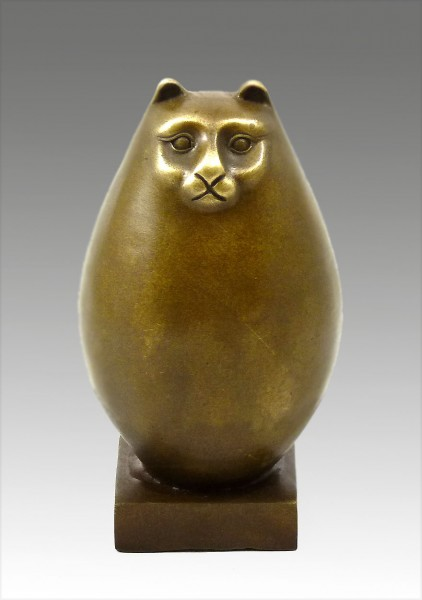 Modern Art Bronze- Fat cat, signed Botero