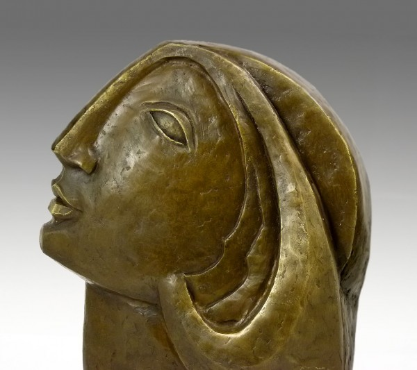 Modern Art Bronze - Woman's Head - after Picasso, by Milo