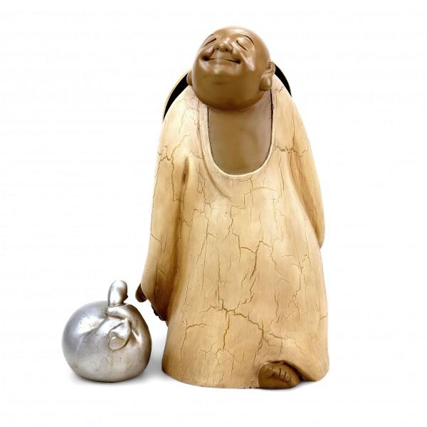 Bronze Figurine - Travelling Buddha - Limited - Two-Piece - M. Klein
