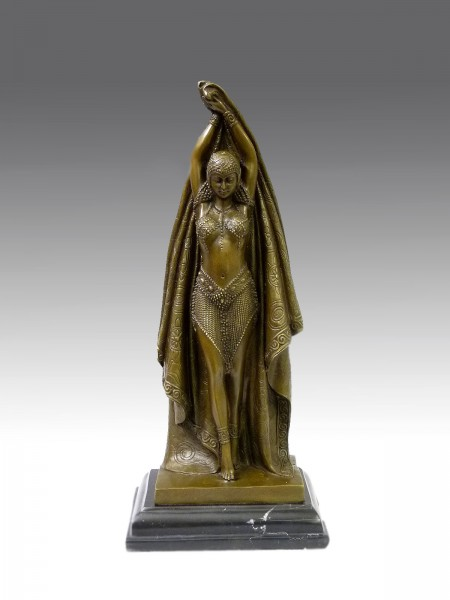 Art Deco Bronze Dancer by D.H. Chiparus - Antinea