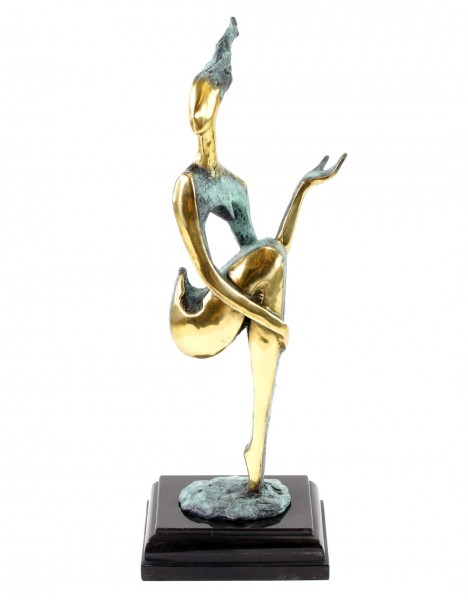 Abstract Bronze Nude - The Sitting One II - signed M. Nick