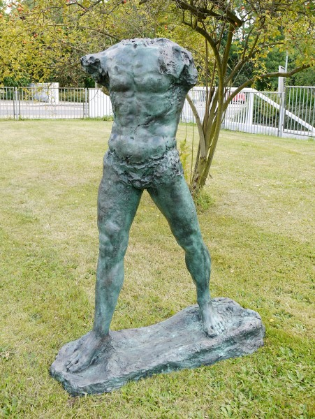 Large Sculpture Bronze - The Walking Man - 1900, signed A. Rodin