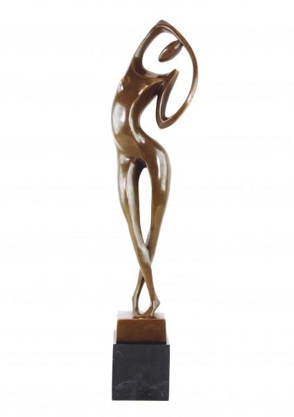 Modern Art Bronze Nude signed Milo on marble-base