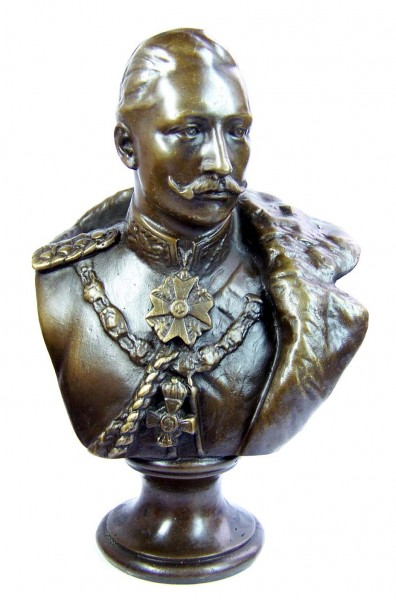 William II. - German Emperor bronze bust signed