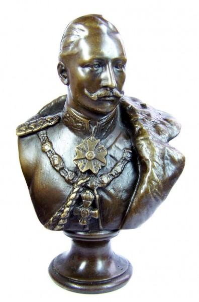 William II. - German Emperor bronze bust, signed Gladenbeck