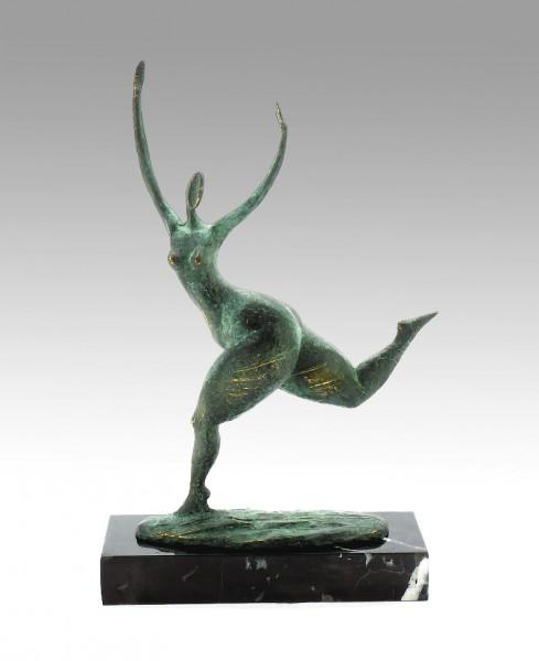 Modern Art Bronze - Abstract running Nude - Milo signed