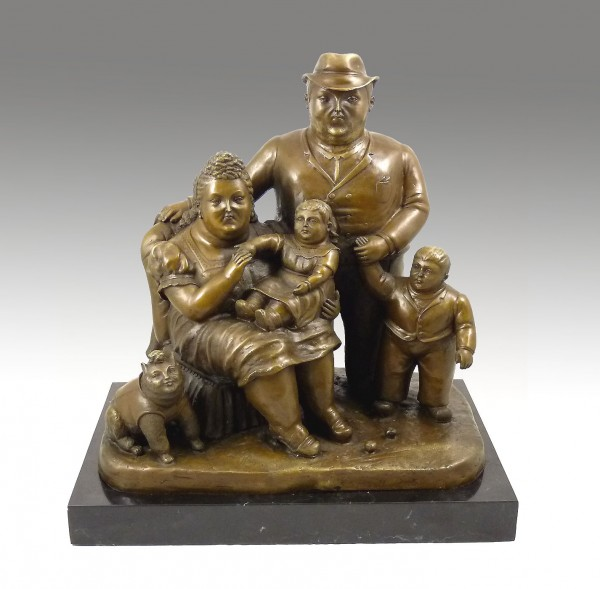 Modern Sculpture - Family - signed by Botero