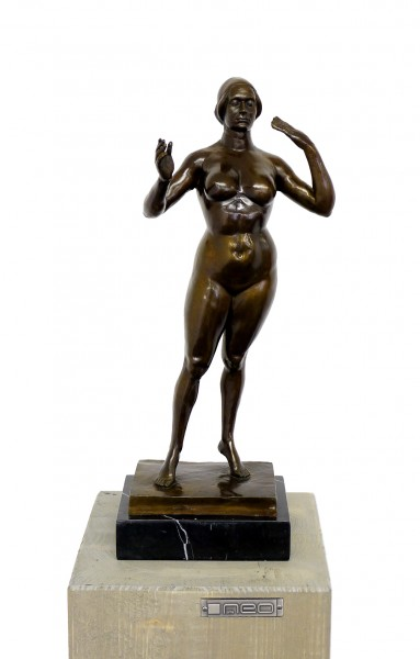 Modern Art - Standing Woman - Bronze, sign. G. Lachaise