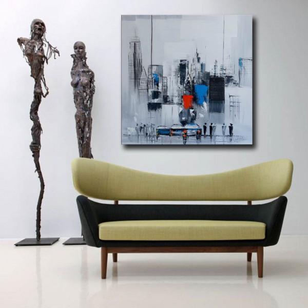 Oil Painting - Manhattan Skyline V / New York - Martin Klein