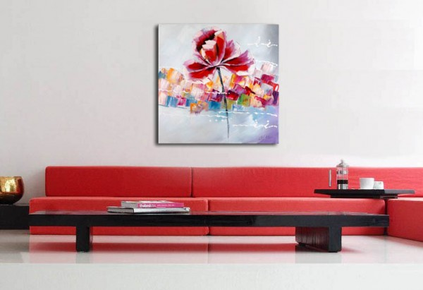 Acrylic Painting - Flower Power - Martin Klein - signed
