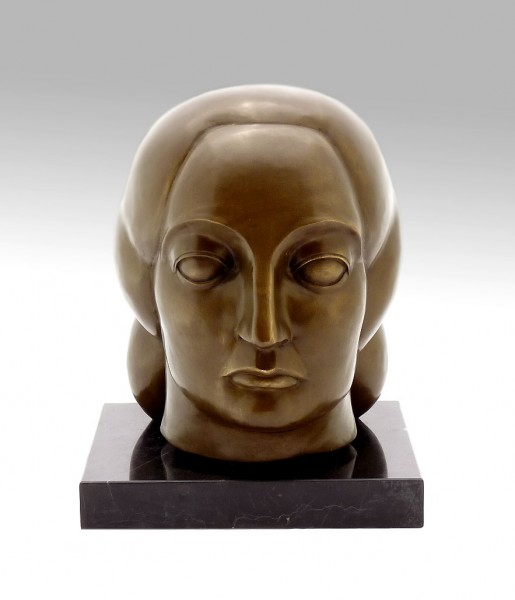 Bronze Sculpture - Head of a Woman - by Gaston Lachaise