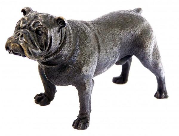 Little british bulldog bronze - animal vienna bronze