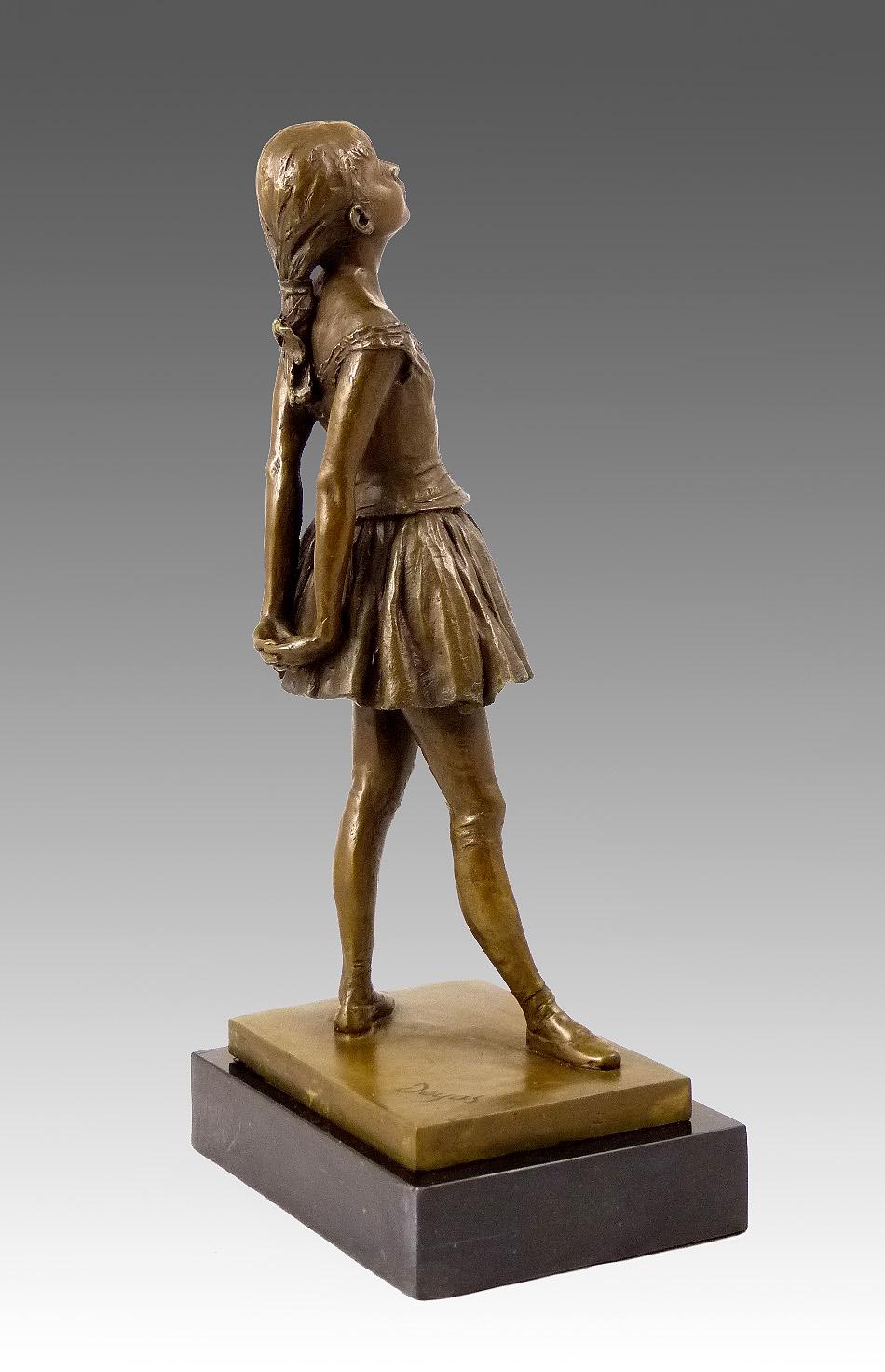 Bronze sculpture Little Dancer of Fourteen Years sign. Degas