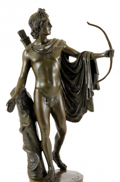 Antique Bronze Sculpture - Apollo Belvedere - by Leochares