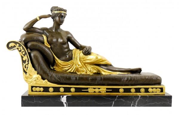 Bronze Figure - Pauline Bonaparte as Venus Victrix - A. Canova
