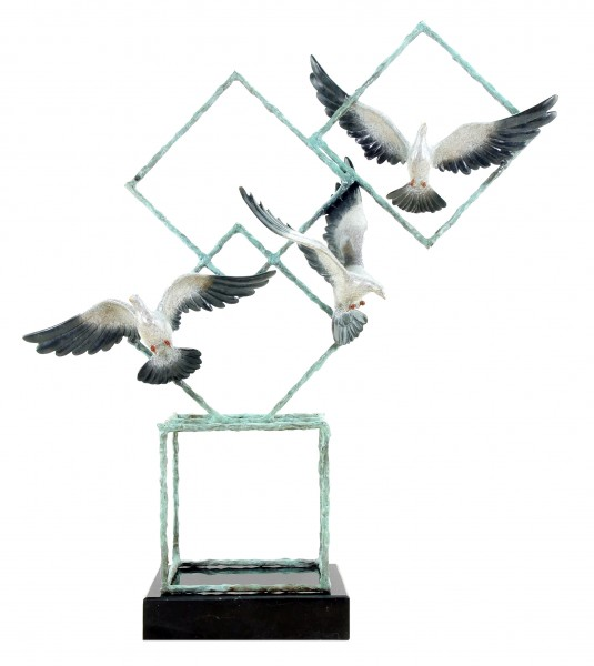 Ways of Liberty by Martin Klein - Animal Sculpture - Doves - Limited