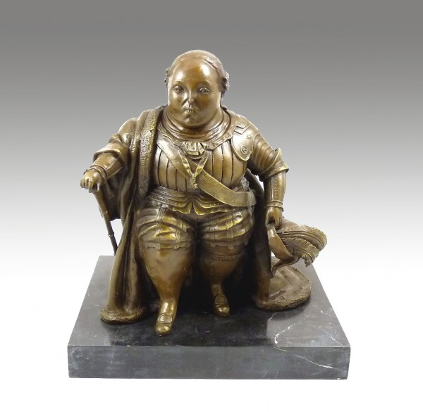 Modern Art Bronze - Louis XVI - signed by Botero