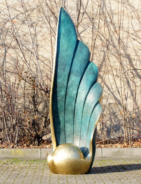 The Wing - Tall Bronze Statue by M. Klein - Limited Garden Sculpture