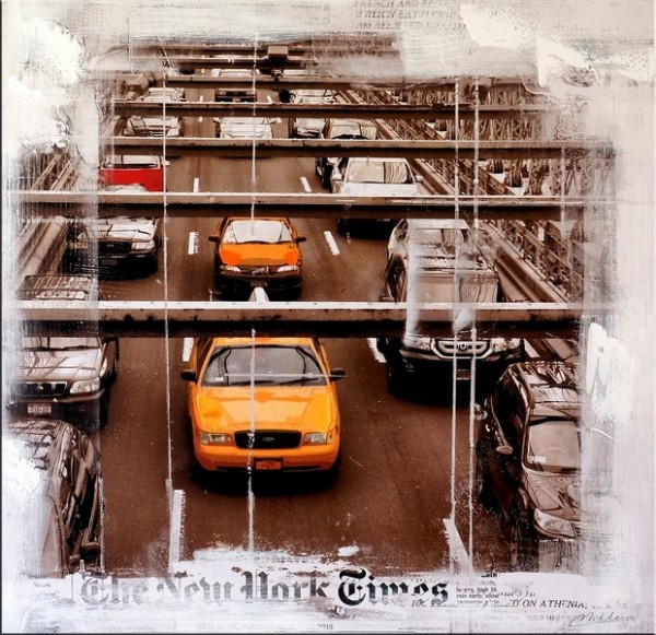 New York Traffic - Acrylic Oil Painting - Martin Klein