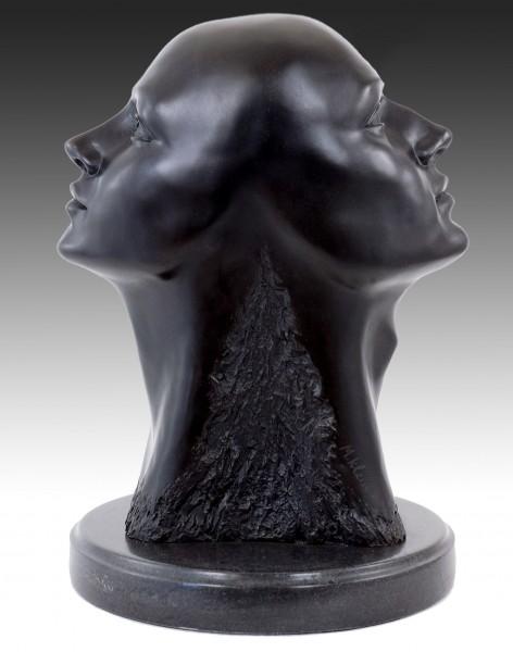 Contemporary Art Bronze Sculpture - Head of Janus - Martin Klein