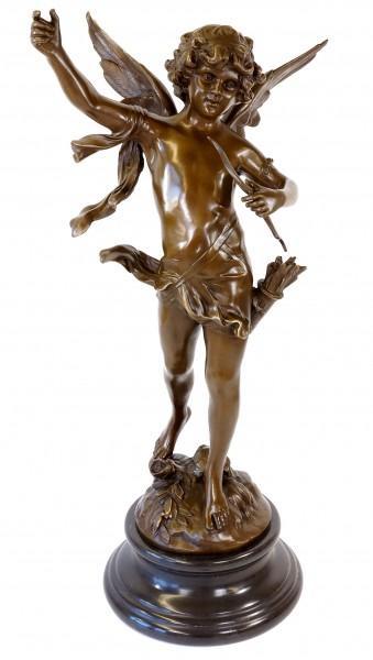 XXL Art Nouveau Sculpture - Dancing Angel Cupid - Moreau