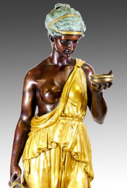 Large bronze - Hebe / Standing Woman, after Bertel Thorvaldsen