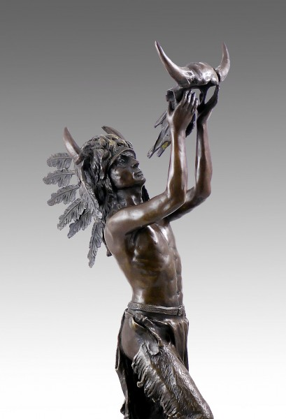 Bronze sculpture - Native American chieftain - from Carl Kauba
