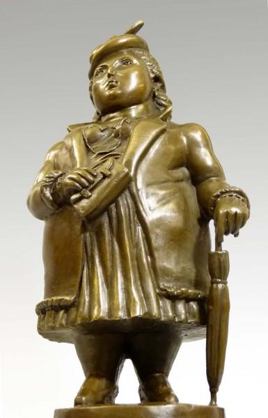 Modern bronze sculpture - Portly lady - Fernando Botero