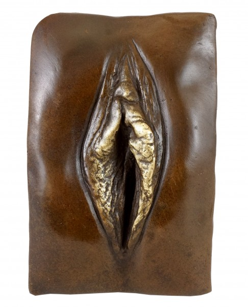 Bronze Relief - Vagina / Vulva - sign. - M. Nick