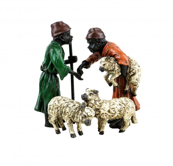 Arabian Sheep Traders - Vienna Bronze - Hand Painted - Stamped