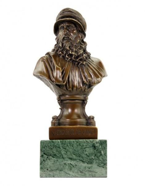 Leonardo Da Vinci Bust - Limited Bronze Statue - Signed Milo